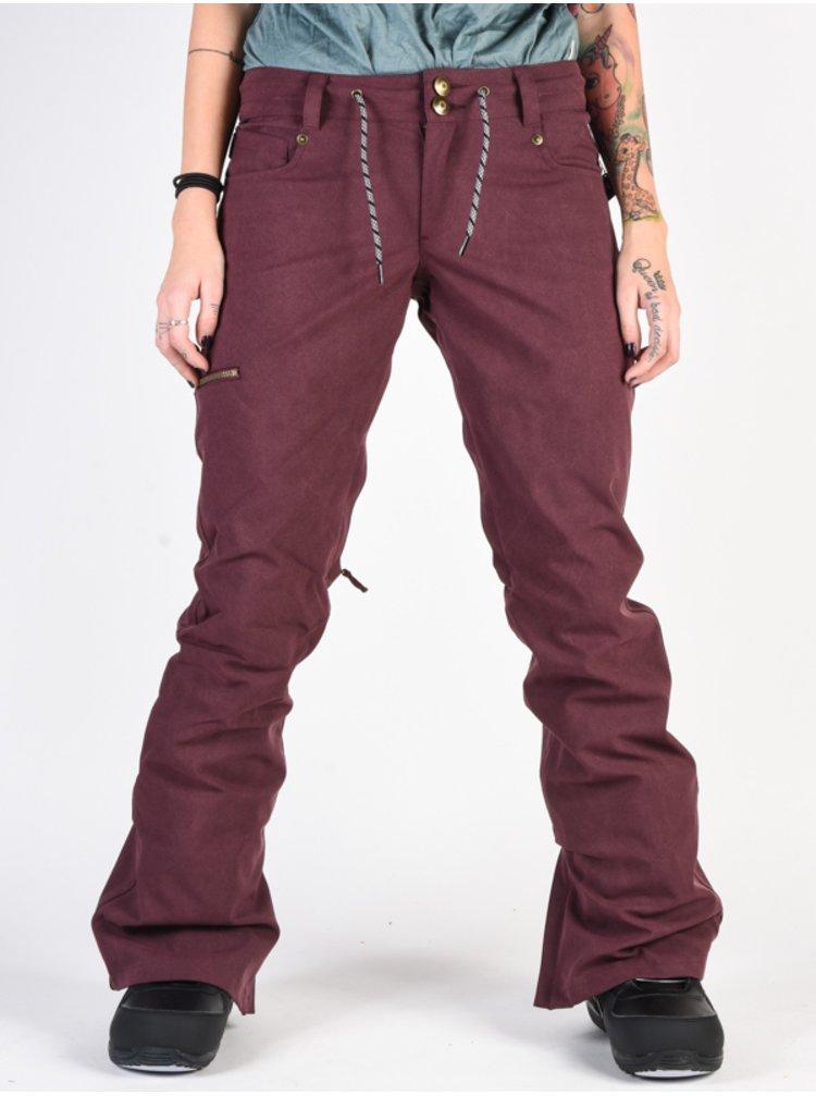 Dc VIVA BIO WASH WINETASTING dámské zimní kalhoty - červená