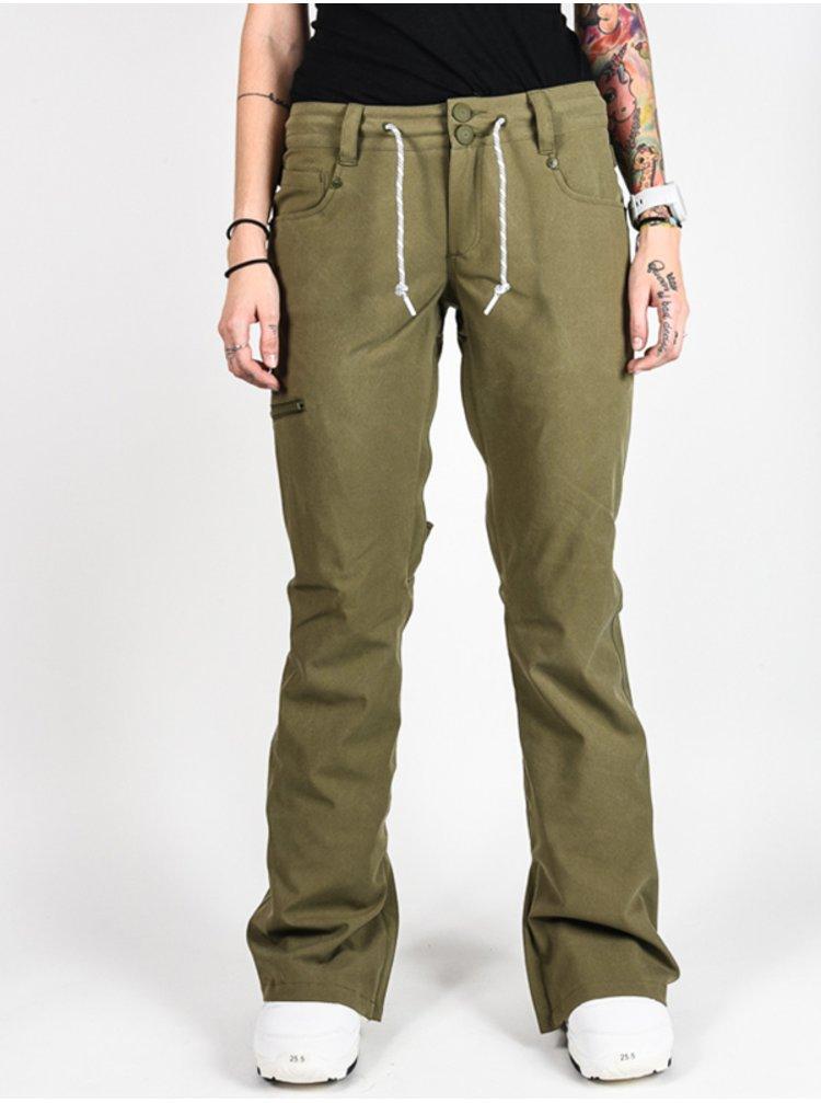 Dc VIVA BIO WASH OLIVE NIGHT dámské zimní kalhoty - zelená