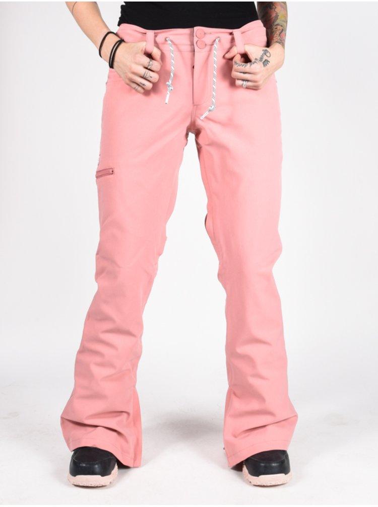 Dc VIVA BIO WASH DUSTY ROSE dámské zimní kalhoty - růžová