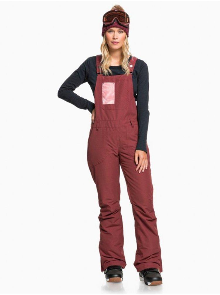 Roxy RIDEOUT BIB OXBLOOD RED dámské zimní kalhoty - červená