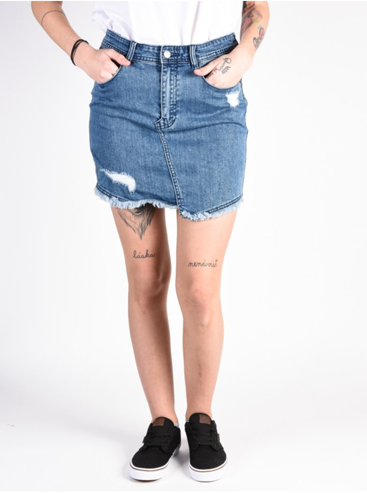 Element WASTED INDIGO WASH krátká sukně - modrá