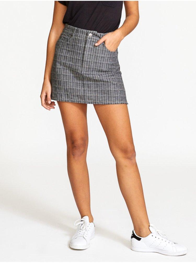 RVCA ROWDY MINI PLAID GREY krátká sukně - šedá