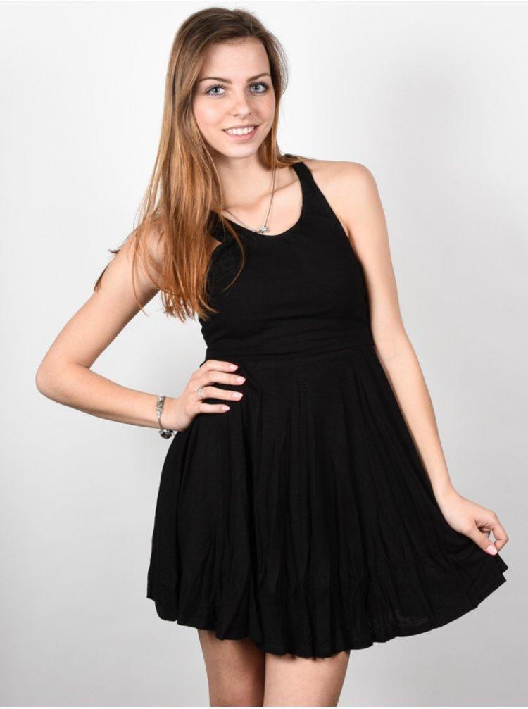 Element RANIA black krátké letní šaty - černá