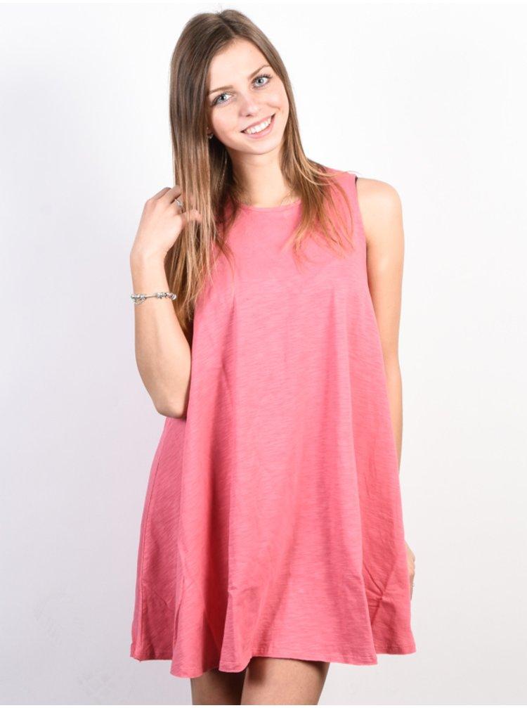Billabong ESSENTIAL ROSEWATER krátké letní šaty - růžová