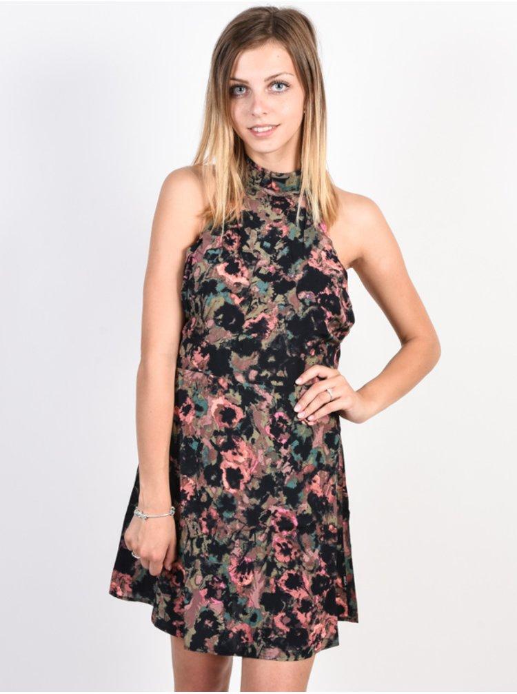 RVCA KINGSMAN MAUVE krátké letní šaty - černá
