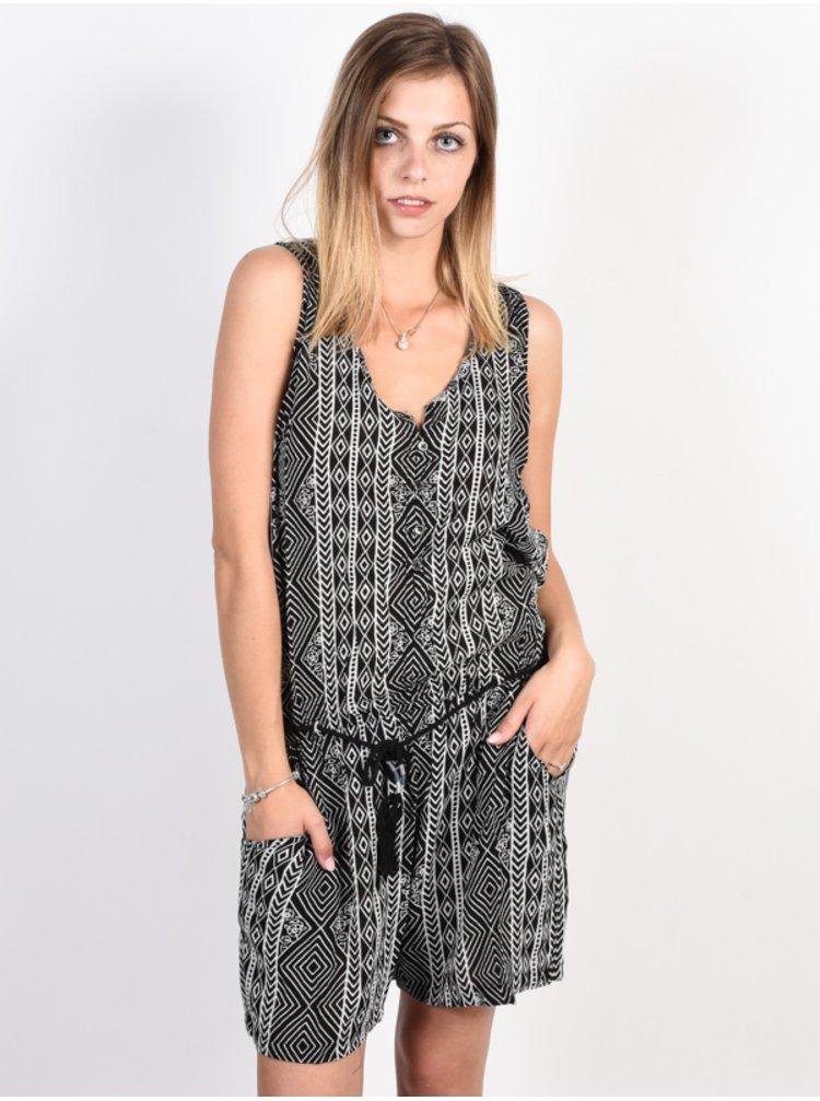 Rip Curl SANDS BEACH ROMPER  black krátké letní šaty - černá