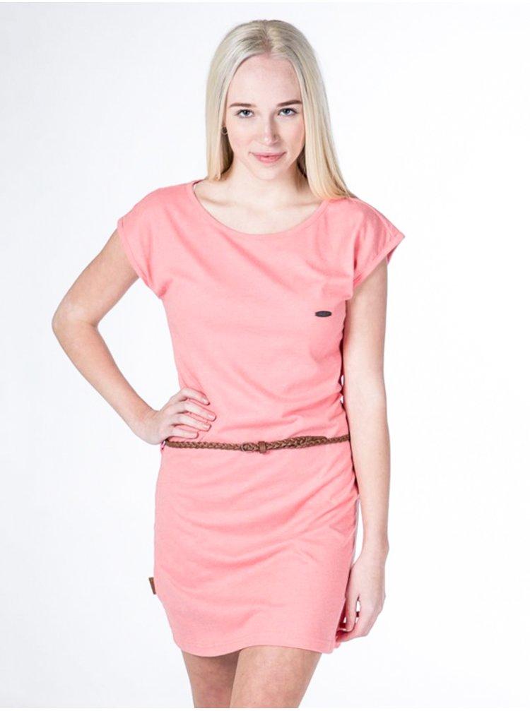Alife and Kickin ELLI CORAL krátké letní šaty - oranžová