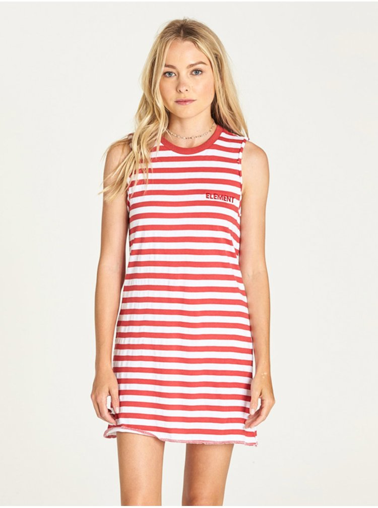 Element PLEASE raspberry krátké letní šaty - bílá