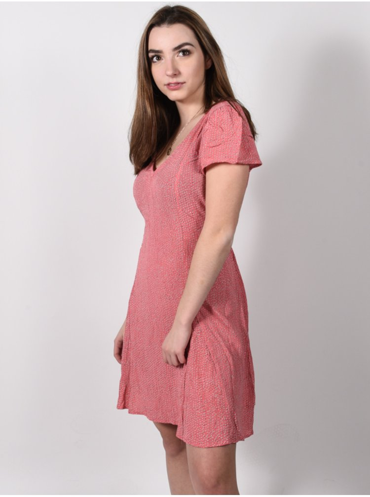Billabong SKATE DAY CORAL KISS krátké letní šaty - růžová