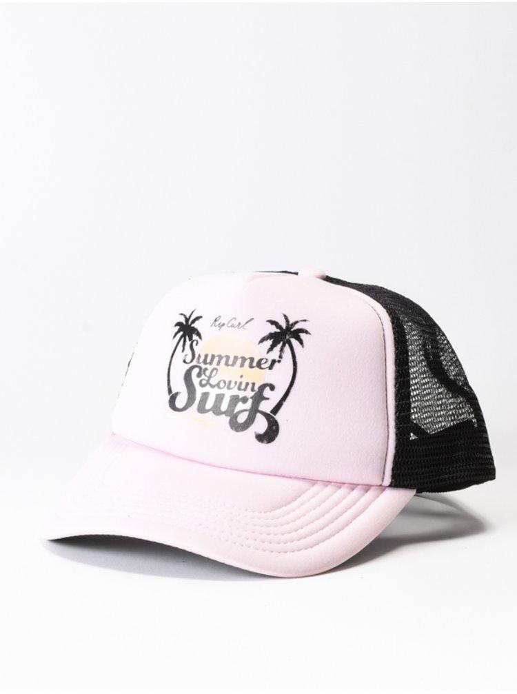 Rip Curl SUMMER LOVIN TRUCKA Light Pink baseballová kšiltovka - černá