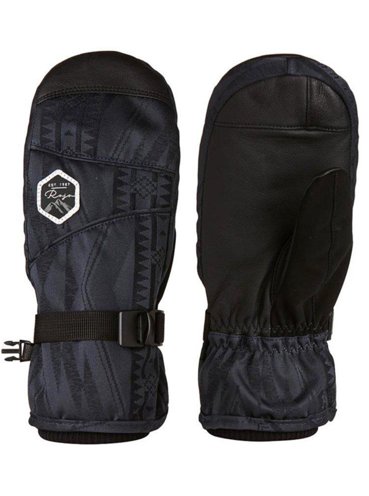 ROJO TASK MITT AZTEC BLUE NIGHTS zimní palcové rukavice - černá