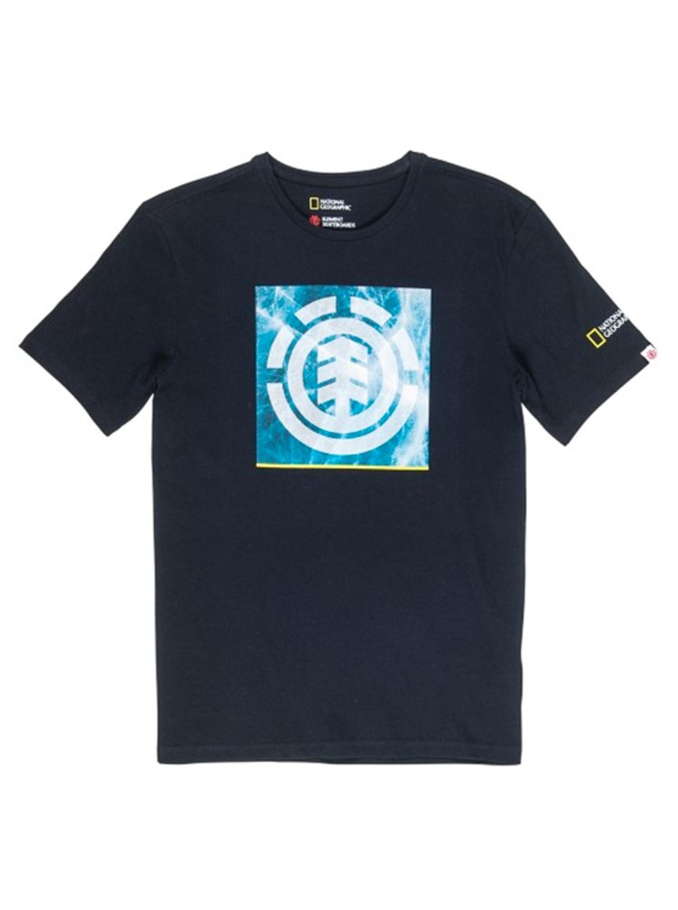 Element SOLVENT ICON FLINT BLACK dětské triko s krátkým rukávem - černá