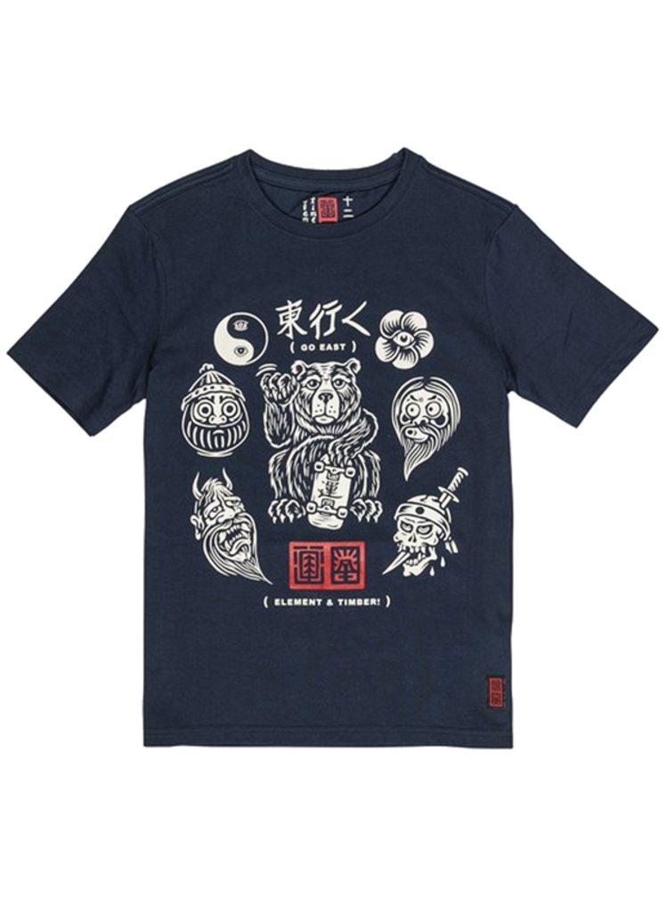 Element FLASH indigo dětské triko s krátkým rukávem - černá
