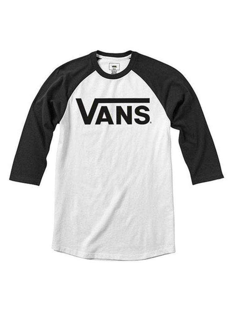 Vans CLASSIC white/black dětské triko s dlouhým rukávem - černá