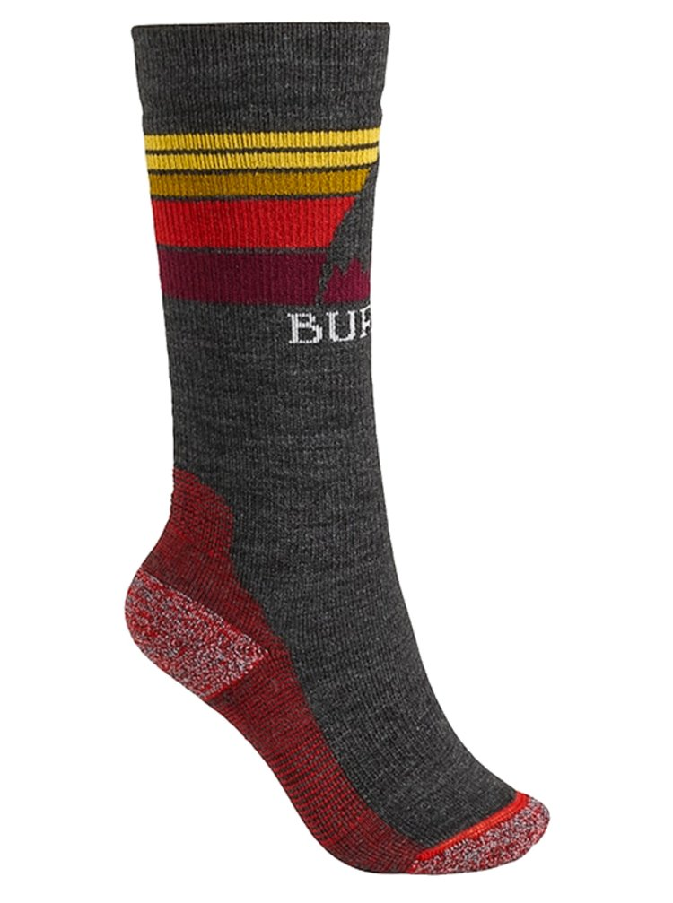 Burton EMBLEM MDWT TRUE BLACK dámské sportovní ponožky - šedá
