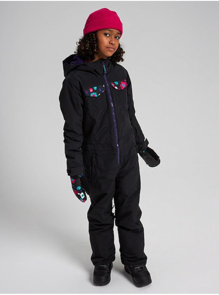 Burton GAME PIECE ONE PIECE TRUBLK/FLRPWR zimní dětská bunda - černá
