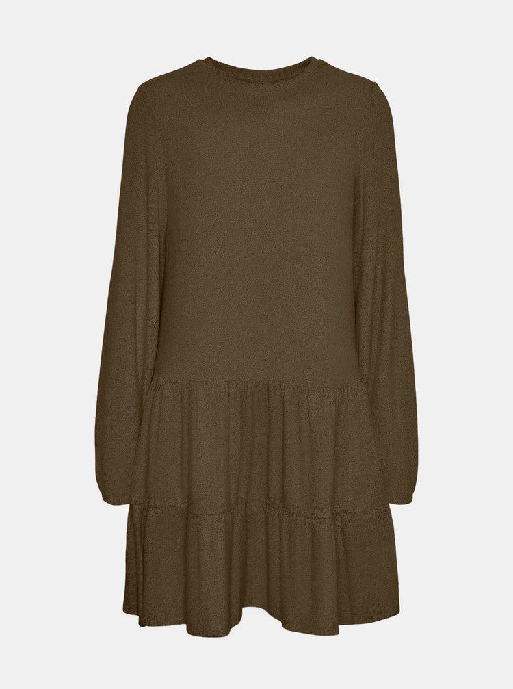Khaki volné šaty VERO MODA