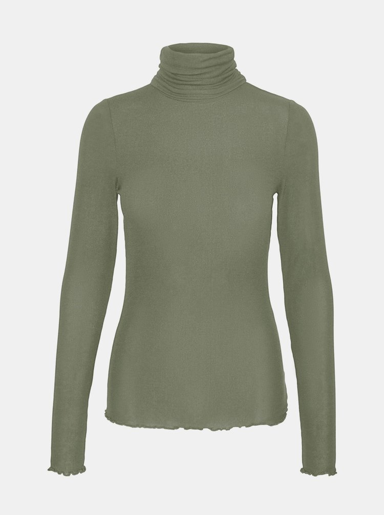 Zelené tričko s rolákem VERO MODA