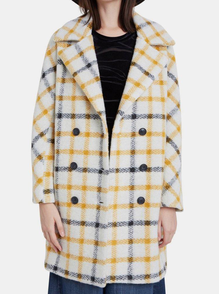 Desigual kostkovaný kabát Abrig Esben