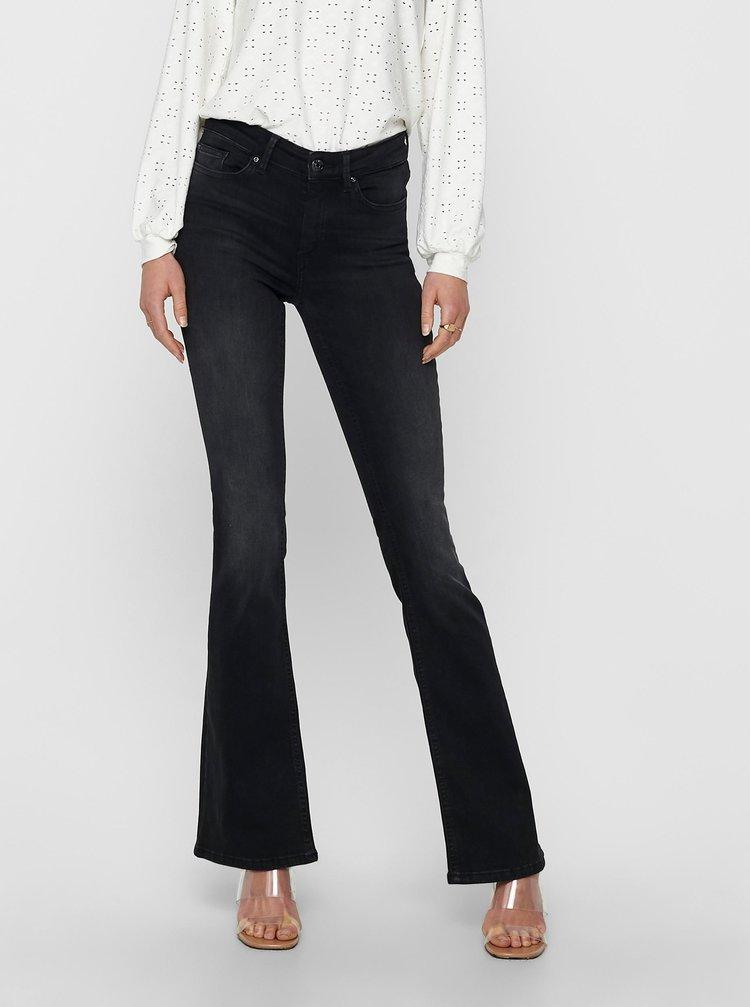 Černé flared fit džíny ONLY