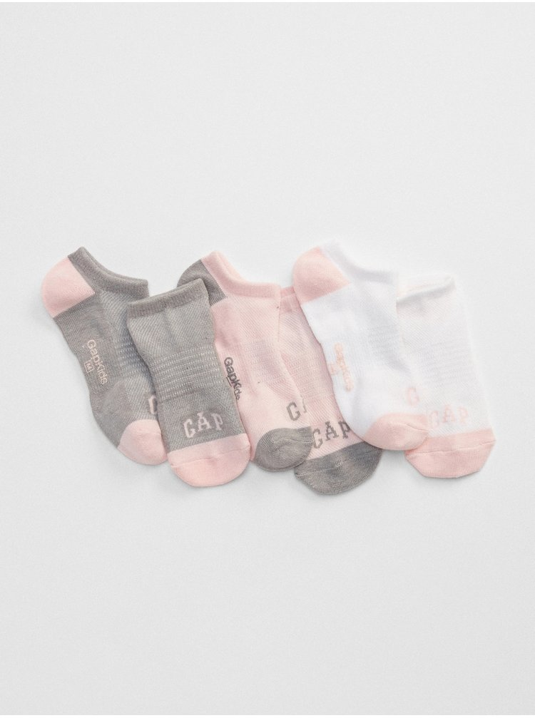 Sada třech párů holčičích ponožek GAP Logo Barevná