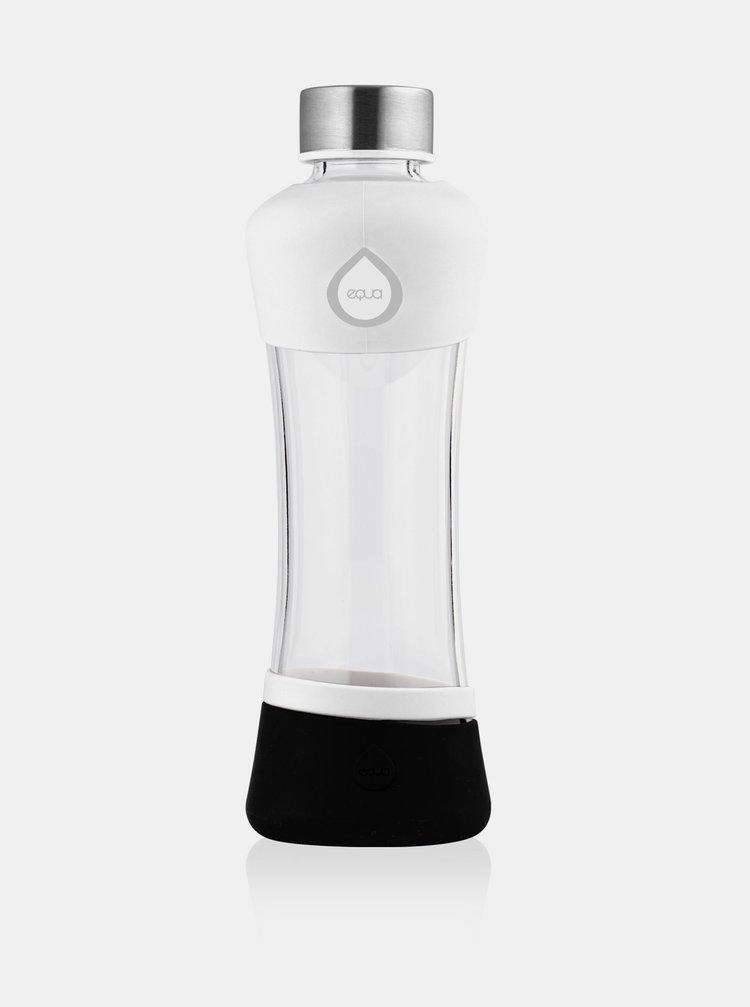 Černo-bílá skleněná lahev EQUA ACTIVE (550 ml)