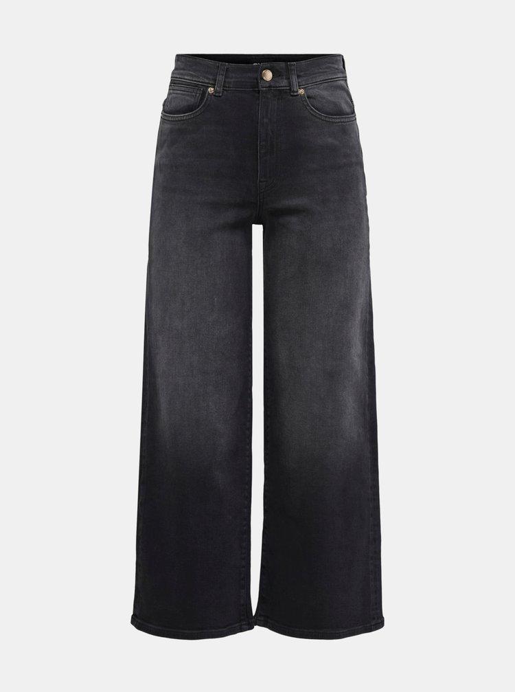 Černé široké džíny ONLY