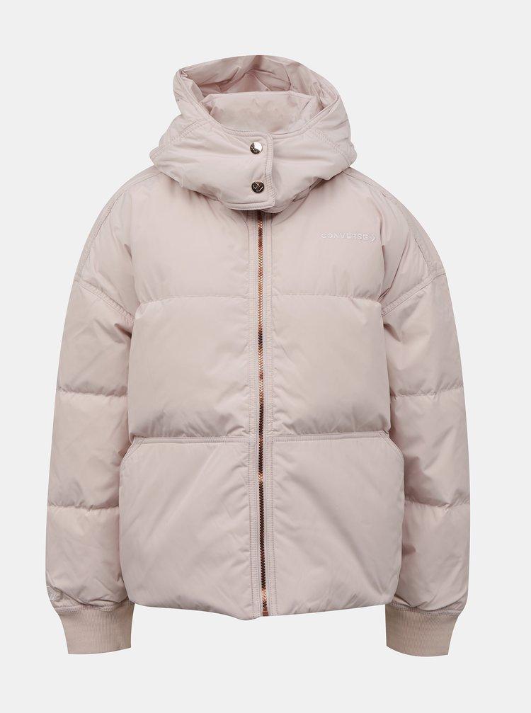 Světle růžová dámská zimní bunda Converse