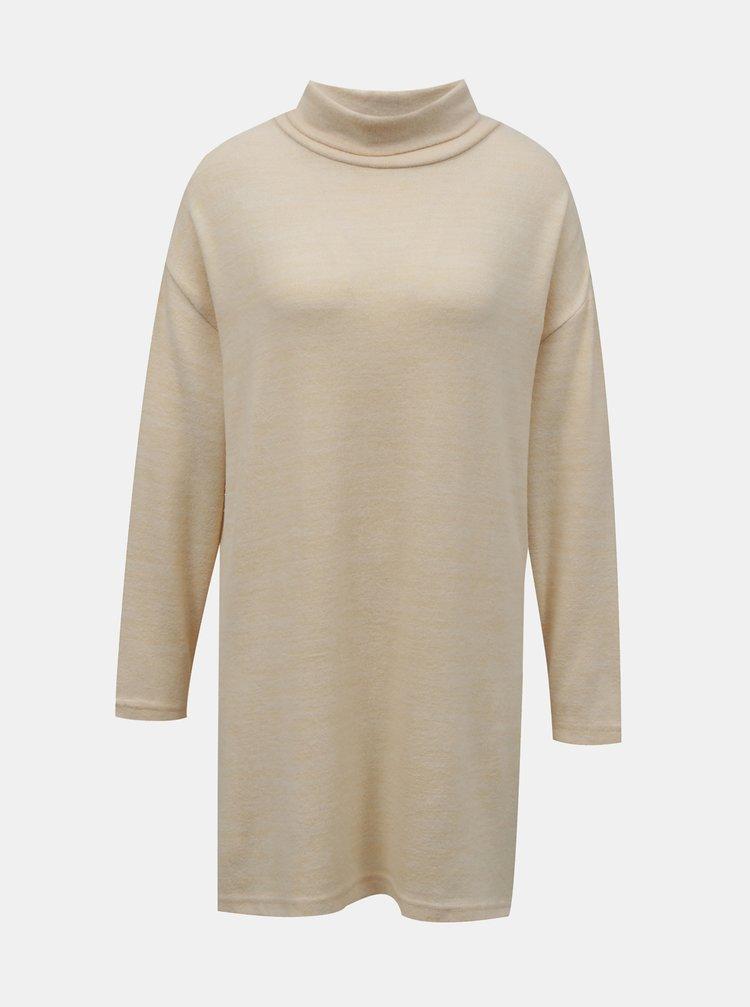 Béžový dlouhý svetr se stojáčkem TALLY WEiJL