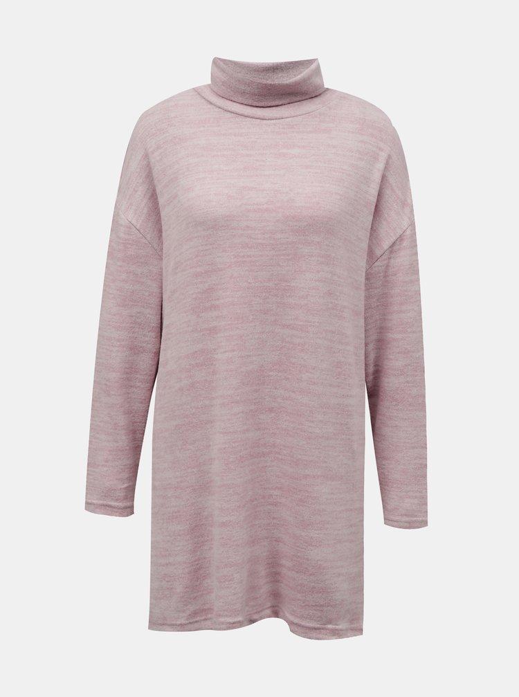 Ružový dlhý sveter so stojáčikom TALLY WEiJL