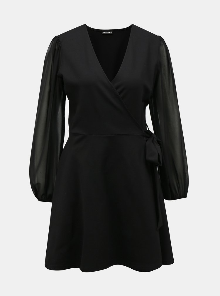 Čierne zavinovacie šaty TALLY WEiJL