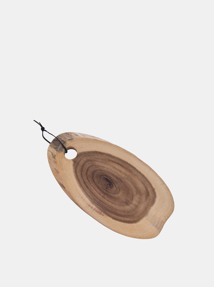 Hnědé dřevěné prkénko Dakls