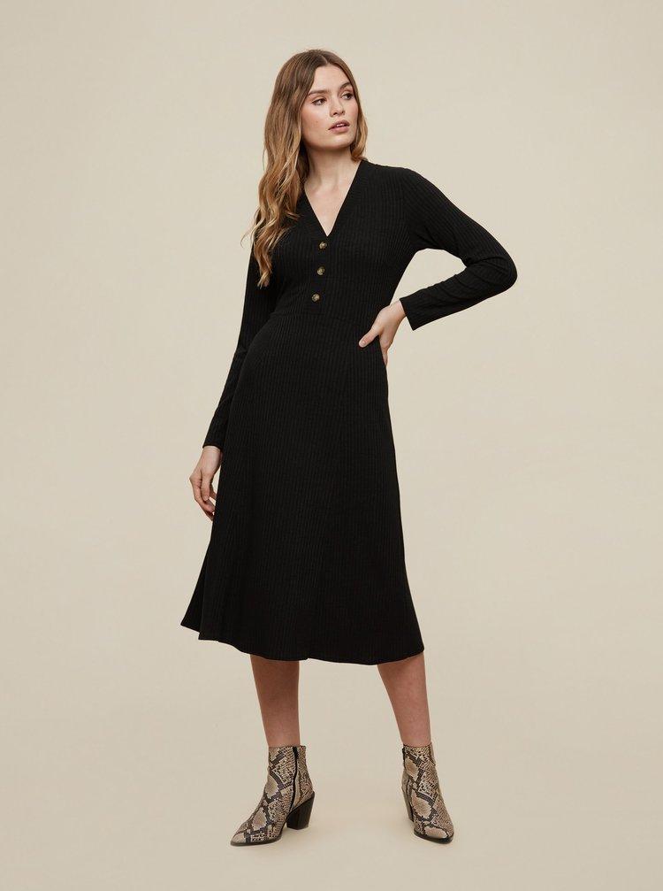 Čierne šaty s gombíkmi Dorothy Perkins