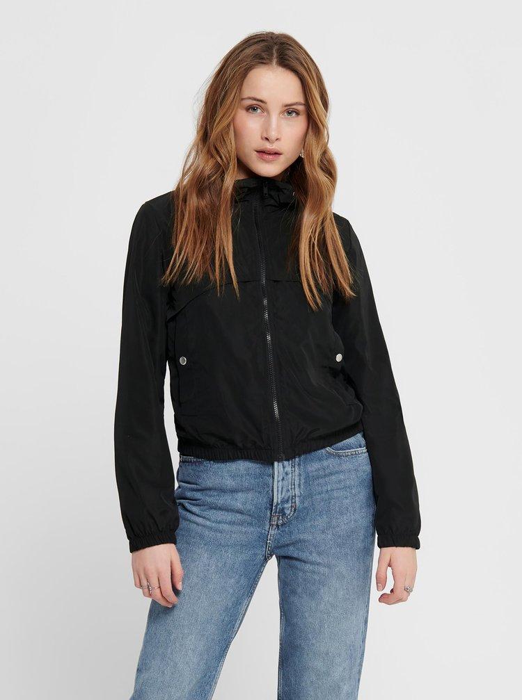 Černá lehká bunda s kapucí Jacqueline de Yong Reach