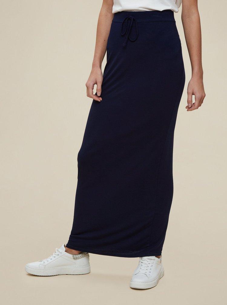 Tmavě modrá maxi sukně Dorothy Perkins