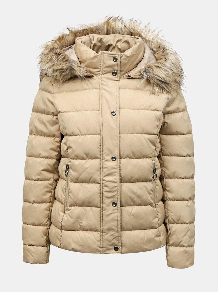 Béžová zimná prešívaná bunda ONLY Luna