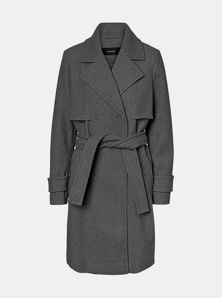 Šedý kabát VERO MODA