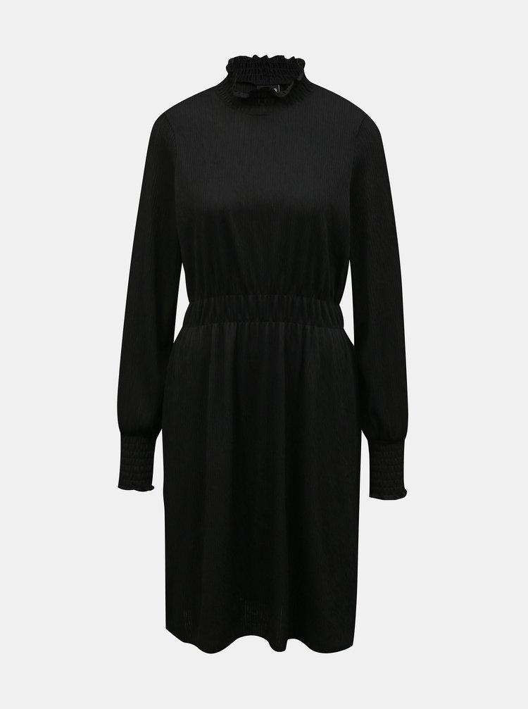 Černé šaty se stojáčkem Pieces