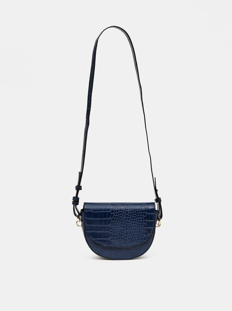 Tmavě modrá crossbody kabelka s krokodýlím vzorem ONLY Poppy