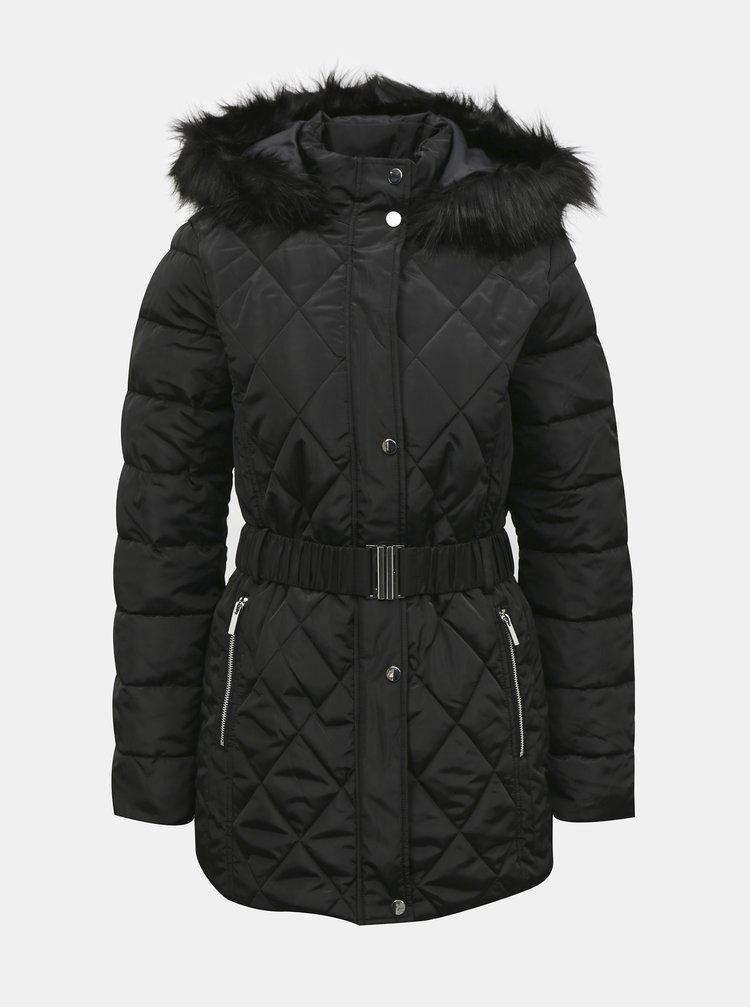 Čierna zimná prešívaná bunda Dorothy Perkins Tall