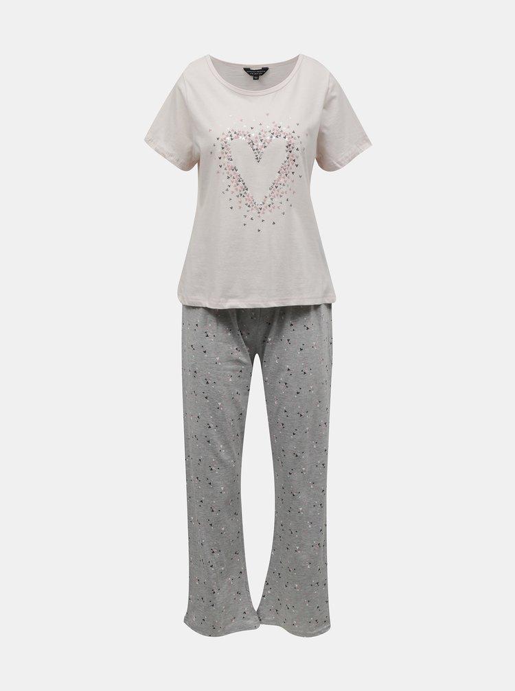 Ružové vzorované pyžamo Dorothy Perkins