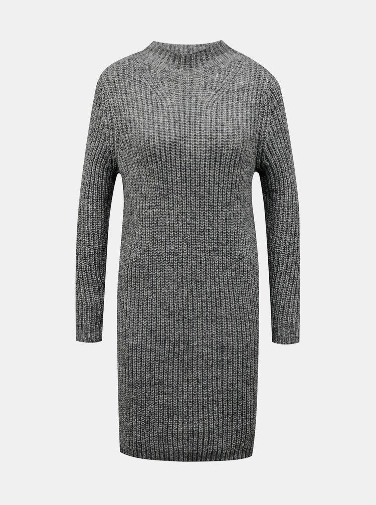 Šedé svetrové šaty Jacqueline de Yong