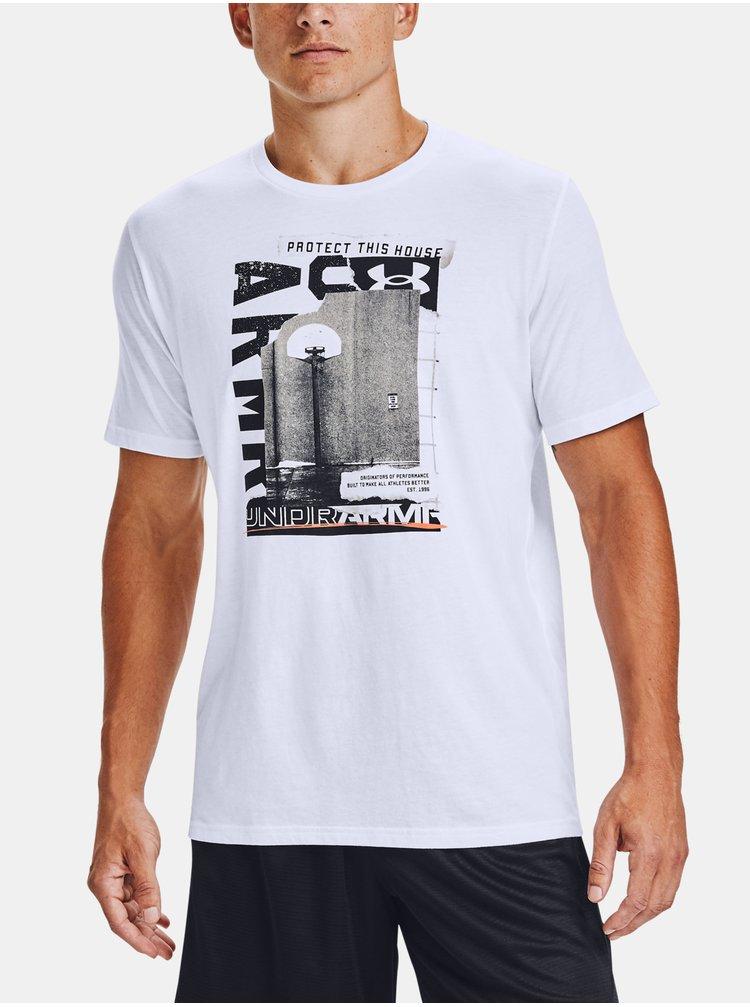 Bílé tričko Under Armour UA BASKETBALL PHOTOREAL SS