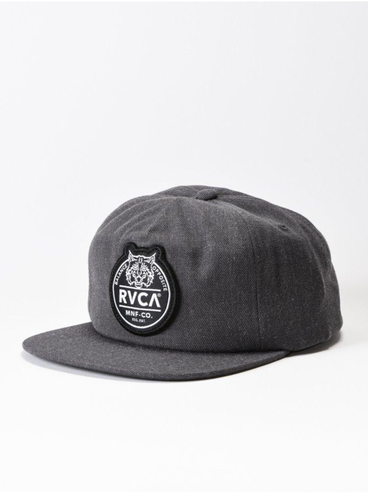 RVCA RVCA PATCH CHARCOAL HEATHER kšiltovka s rovným kšiltem - šedá