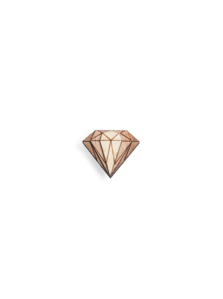 Dřevěná ozdoba do klopy Diamond Lapel BeWooden