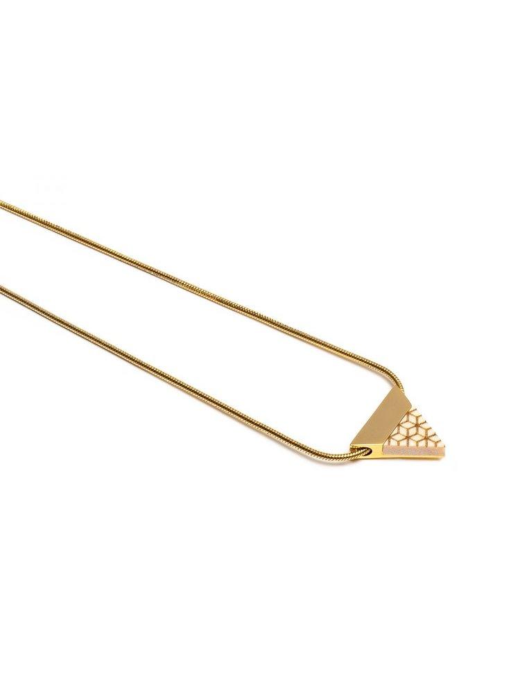Náhrdelník s dřevěným detailem Virie Necklace Triangle BeWooden