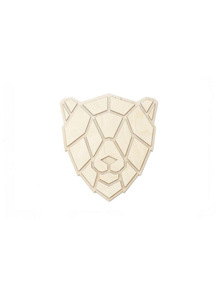 Dřevěná dekorace na zeď Lion Polygon BeWooden