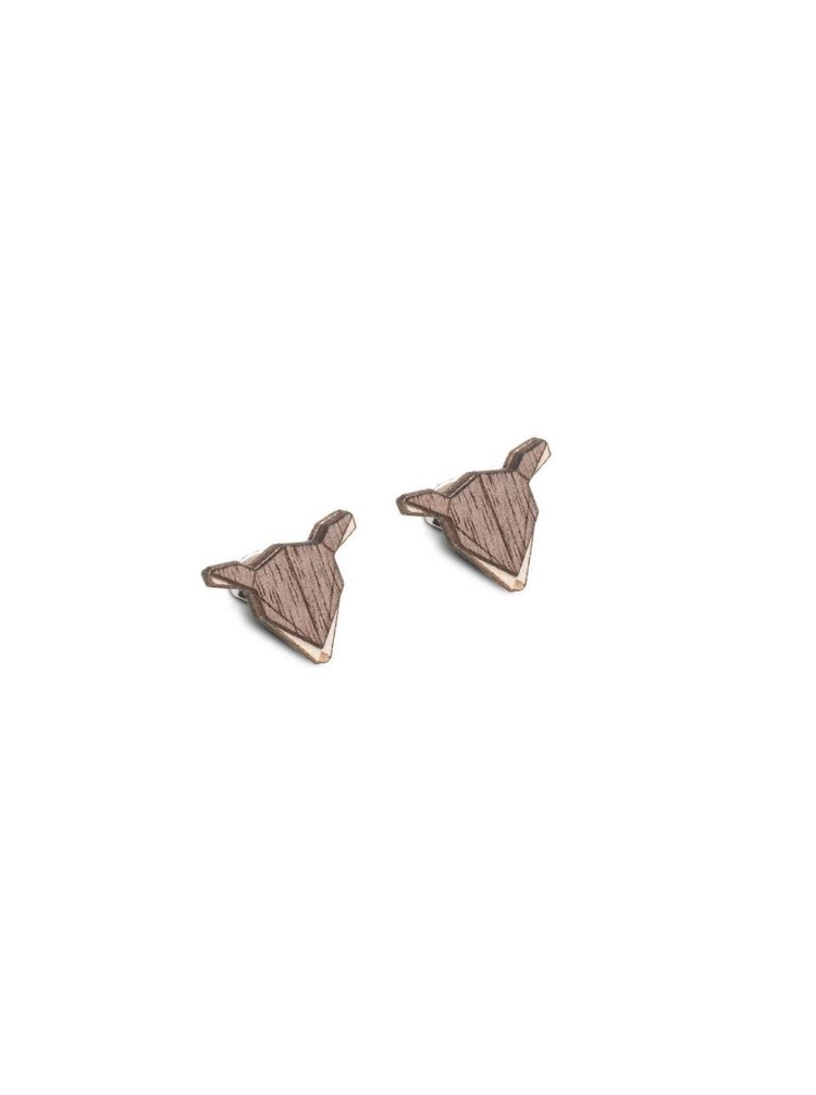 Dřevěné náušnice Doe Earrings BeWooden