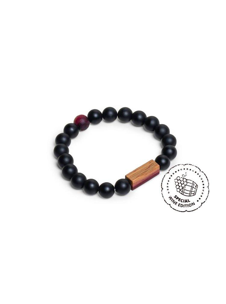 Korálkový náramek Red Wine Bracelet BeWooden