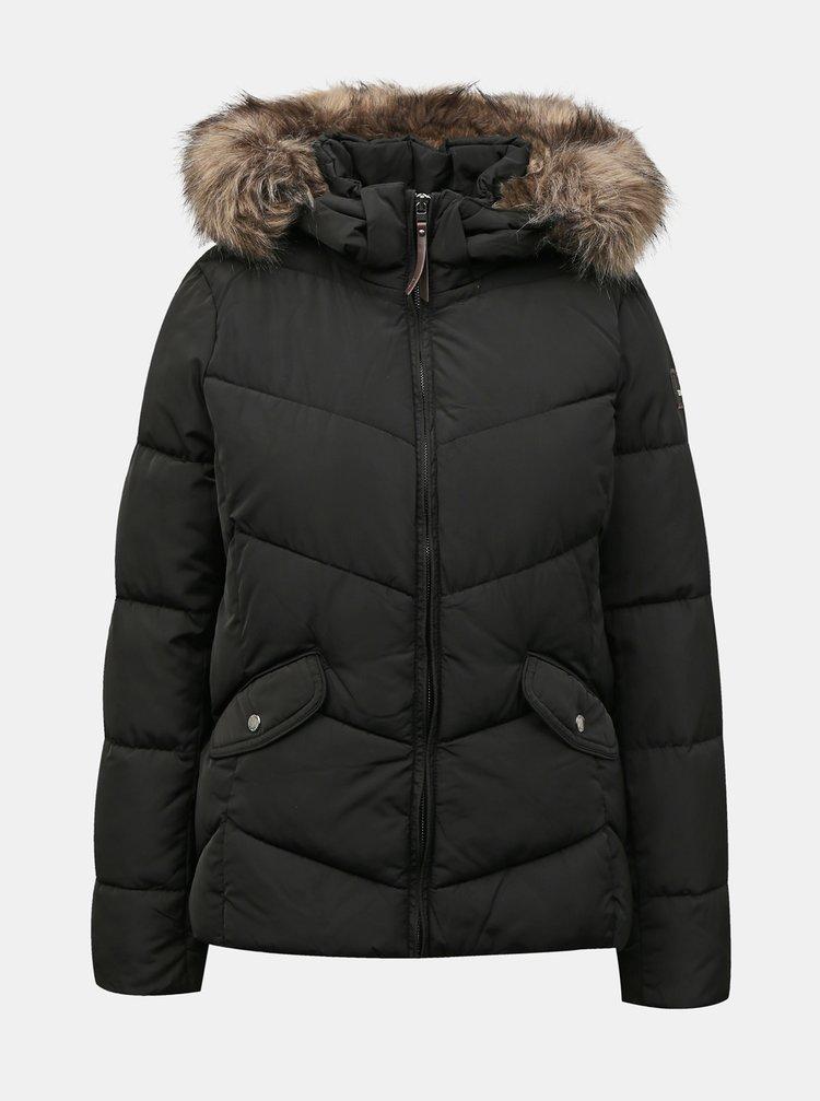 Čierna zimná prešívaná bunda ONLY Roona